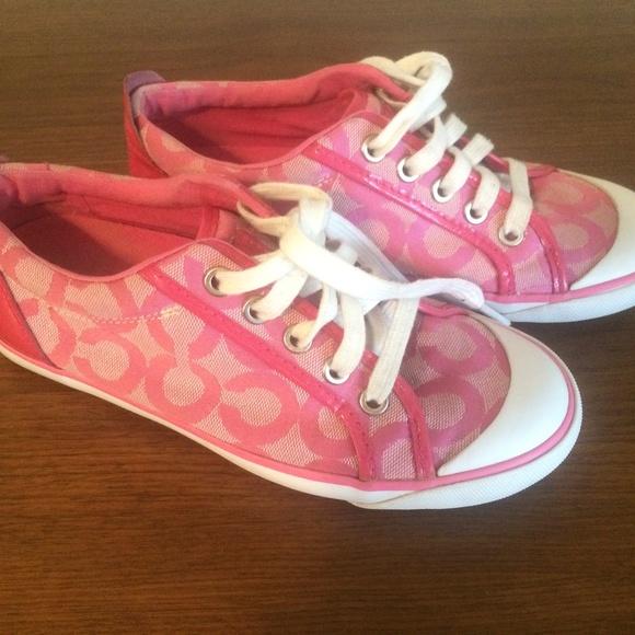 Vintage Coach pink summer sneaker shoes